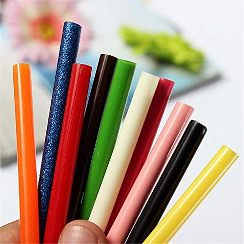 ERFHJ Color 7 x 100 mm Hot Melt Stick met 7 mm lijmpistool voor elektrisch kleefstift, accessoires voor reparatie van Hand Fai-da-Te