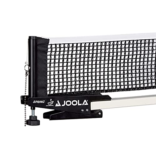 JOOLA Spring Professional Table Tennis Net and Post Set - ITTF Tournament Approved - 72in Regulation Ping Pong Net with Spring Activated Clamp Attachment