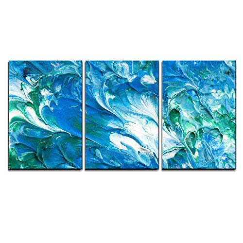 """wall26 - 3 Piece Canvas Wall Art - Paints on The White Paper - Modern Home Art Stretched and Framed Ready to Hang - 16""""x24""""x3 Panels"""