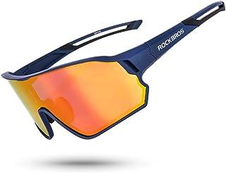 ROCK BROS Polarized Sunglasses for Men Women UV Protection Cycling Sunglasses Bike Sports Glasses Fishing Running Driving
