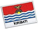 ONCEX Taktische Militär-Flagge Kiribati Applikationen Patch Kiribati Weltlandflagge bestickt Abzeichen Stickerei Dekorative Handwerk Kostüm Geschenk (4,3 x 6,6 cm)
