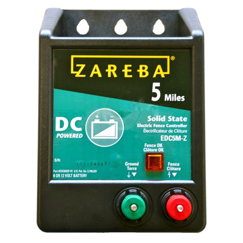 Zareba EDC5M-Z 5-Mile Battery Operated Solid...