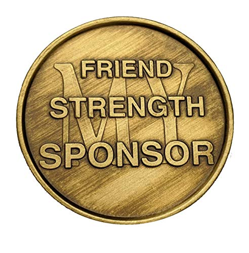 Sponsor Gift for Men or Women | Thoughtful Alcoholics Anonymous Thank You AA Coin | Inspirational Sober Recovery Gift for Year Milestone | Bronze Sobriety Medallion | AA NA Celebrate Recovery Chip