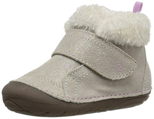 Stride Rite Girls' Soft Motion Sophie Fashion Boot, Champagne, 3 Medium US Infant