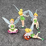 HUIQI Figura de Anime,4pcs / Lot Princess Figure Toys Tinkerbell Fairy Elf Set para niños Regalos de cumpleaños