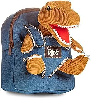 Naturally KIDS Small Dinosaur Backpack Dinosaur Toys for Kids 3-5 - Dinosaur Toys for 3 4 5 6 Year Old Boys Gift - Toddler...
