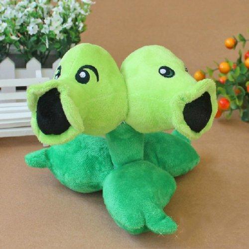 Plants vs Zombies 2 Split Pea Plush Figure Staff Toy Soft Doll