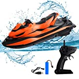 STOTOY RC Boat, Remote Control Racing Boats for Pools and Lakes, 15 KM/H 2.4G HZ Electric Mini Watercraft boat for Kids & Adults, Outdoor Radio Controlled Watercraft Boat