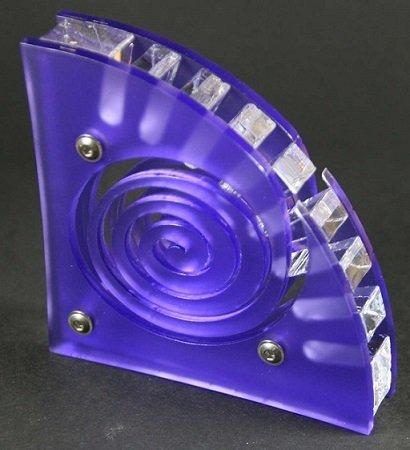 Plexiglas USB Stickhalter Spirale für 8 Sticks, edles Design, Laserschnitt