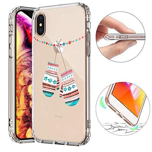 KeKeYM Transparent Silikon Xmax Case für iPhone 8, Stoßstange Abdeckung für iPhone 7, Clear Case für iPhone 8, Spezielles Winter Painted Shell für iPhone 7 4.7 Zoll - Handschuhe