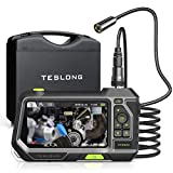 Teslong Autofocus Endoscope with 5inch Screen, Auto Focus Industrial Borescope Inspection Camera, 1280x720 HD IPS Display, Waterproof, LED Lights and Toolbox(9.8ft)