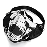 JewelryWe Masque Protection Demi Cagoule Ghost Tete de Mort Crâne Skull Airsoft Paintball Outdoor Ski Snow Surf Moto...