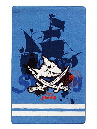 Capt'n Sharky Kinderteppich, Blau
