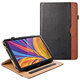 ZoneFoker Galaxy Tab A 10.1 inch 2019 Tablet Leather Cover Case, 360 Protection Multi-Angle Viewing Folio Stand Cases with Pencil Holder for Samsung Galaxy Tab A 10.1 SM-T510/SM-T515 - Black/Brown