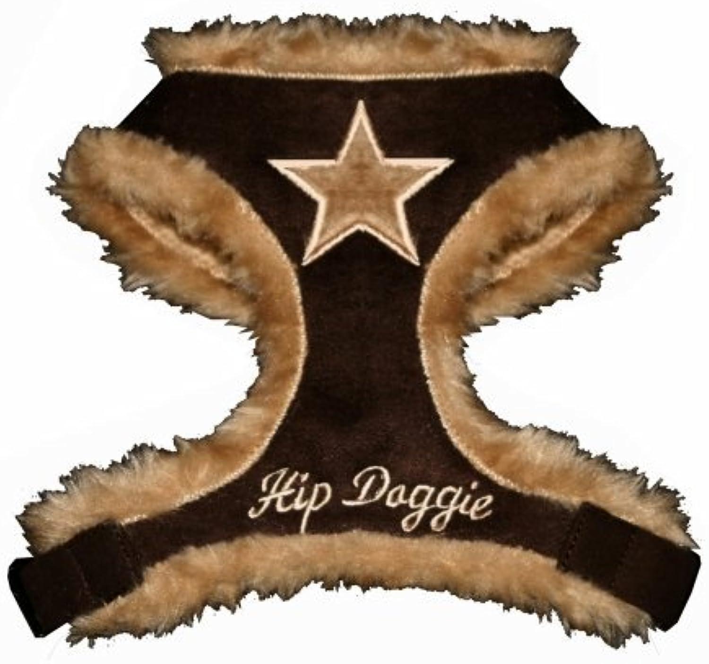 Hip Doggie HD6BNFSHXL Extra Large Brown Fur Star Harness Vest