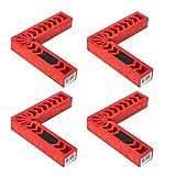 4 Unids/set Cuadrados de posicionamiento de 90 grados en forma de L Posicionador de ángulo recto Abrazadera de esquina Herramientas para trabajar la madera Carpintero Ensamble gabinetes, cajones o caj