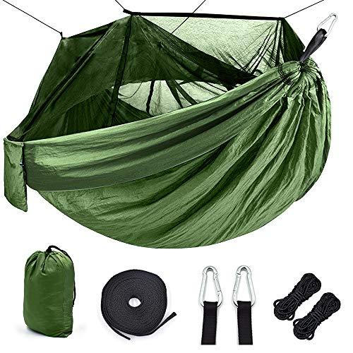 CHENTAOCS Outdoor Klamboe camping hangmat 1-2 Persoon Parachute picknick Hangmat Portable Hangende Hunting Slapen hangmat Swing hangmat (Color : Color)