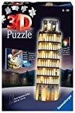 Ravensburger- Puzzle 3D, edición Torre de Pisa, Night Edition, Individual, Color Amarillo (12515)