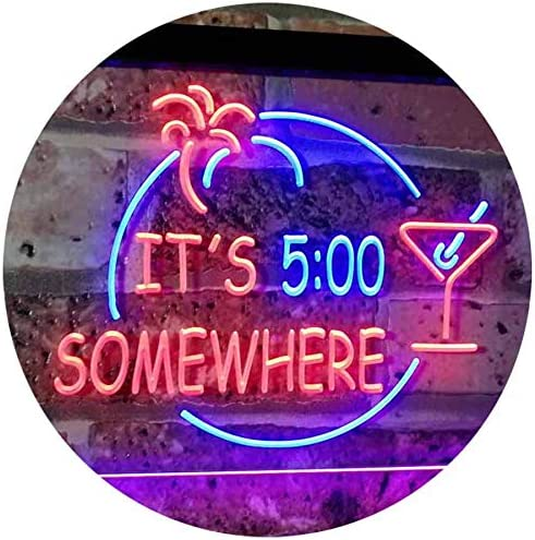 ADVPRO It's 5 pm Somewhere Bar 5% OFF Max 88% OFF Cocktails Color LED Neo Beer Dual