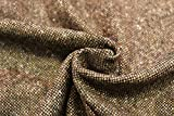 DZ33 Donegal-Tweed-Stoff, 100 % reine Schurwolle.