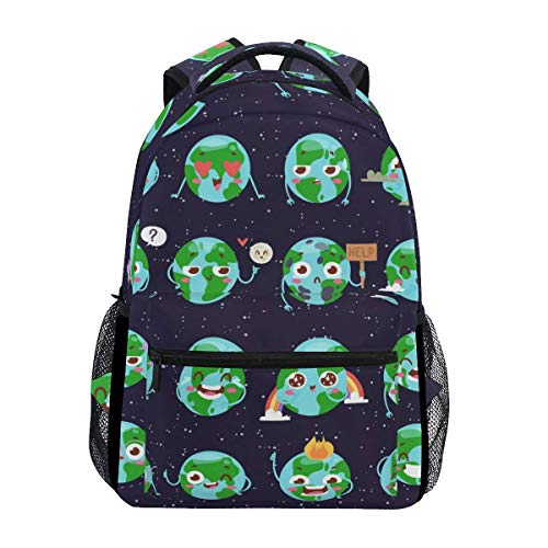 Backpack Wold Earth Expression Gift Mochila Informal Mochila De Viaje para La Universidad Libro Mochila Escolar Estudiante Laptop Impresa para Niños Mujeres Niñas Niños Hombres