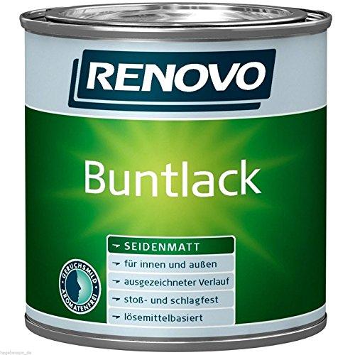 Renovo Buntlack lösemittelhaltig Weiß 0,375 Liter seidenmatt Alkydharzlack (18,64 Euro/Liter)