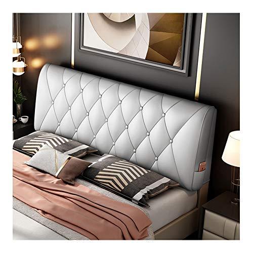 Lanrui Kopfteil aus Leder Abdeckung Nachtkissen Rückenwandkissen Bett Soft Bag Daybed Kissen Wedge Große Rückenkissen Lesekissen (Color : Silver, Size : No)