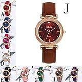 Dorical Damen Luxury Uhr Analog Quarz mit Armband,Crystal Wristwatch(Lila,One size) - 2