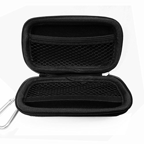 GUPi LOVE MY CASE/DURABLE Black MP3 Player Case, Hard Clamshell Case Earphone Case Holder with Carabiner Clip for Sony Walkman Sony Walkman NW-E394 with FM Radio MP3 Player
