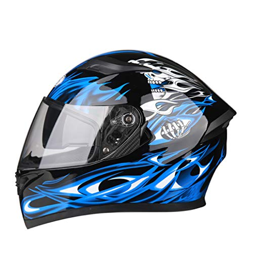 OLEEKA Motorradhelm Capacetes Motociclismo Integralhelm Individualität Moto Helme Racing Belt Neuheit Moto
