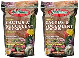 Hoffman 10404 Organic Cactus and Succulent Soil Mix, 4 Quarts (2-Pack)