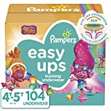 Pampers Easy Ups Pull On Disposable Potty Training Underwear for Girls and Boys, Size 6 (4T-5T), 104 Count (Packaging May Vary)