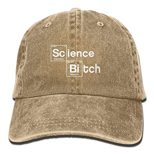 Funny Z Science Is Bitch Ajustable Vintage Jeans Gorra de Béisbol para Hombres y Mujeres