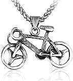 LJ Colgante, collar, joyería, collar de acero inoxidable para mujer, hombre, clásico, gargantilla de bicicleta, LJ Colgante, collar, joyería de compromiso, regalo