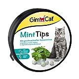 GimCat Boquillas de Menta para Gatos sin Cereales y Ricos en vitaminas con Sabor a Menta gatera, 1 Bote de 200 g