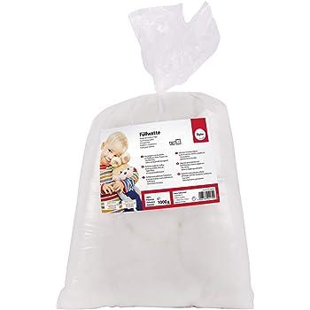 Rayher Relleno algodón, Altamente frisado,Copos, Blanco, 1 kg: Amazon.es: Hogar