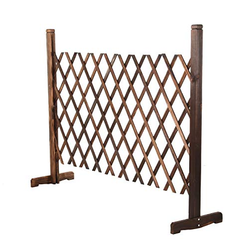 Youyijia Expanding Trellis Fence,88cm Height,Retractable Gate Expanding Fence(26-146cm),Freestanding Wooden Trellis Fence Garden Screen Plant,Pet Dog Safety Fence