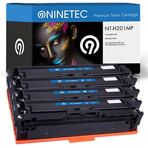 Farbset 4X Original NINETEC NT H201MP Toner Kartuschen kompatibel mit HP CF400X CF401A CF402A CF403A 201A X