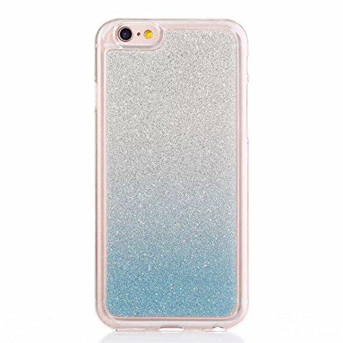 MUTOUREN iPhone 5C Caso,iPhone 5C Suave Caso de TPU Brillante Destello espumoso Caso de la Cubierta Resistente a los arañazos Caso de Parachoques Trasero Protector Transparente - Azul gradiente