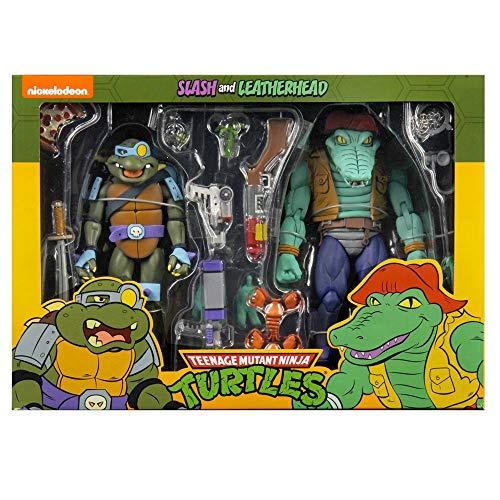 Reel Toys NECA TMNT Slash and Leatherhead Action Figures