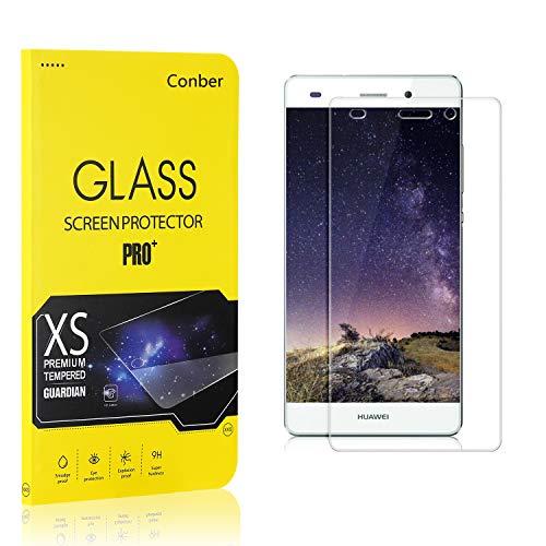 Conber (1 Pack) Screen Protector for Huawei P8 Lite 2015 / Huawei P8 Lite 2016 / Huawei P8 Mini, Tempered Glass Screen Protector for Huawei P8 Lite 2015 / Huawei P8 Lite 2016 / Huawei P8 Mini