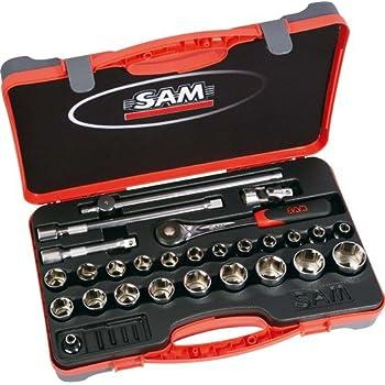 SAM Outillage 75-SH27PA - Estuche de llaves de vaso y accesorios (1/2
