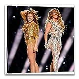 Shakira Jennifer Lopez Halbzeit Superbowl Poster,