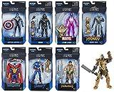 Avengers: Endgame Marvel Legends Wave 1 Set of 7 Figures (Thanos BAF)