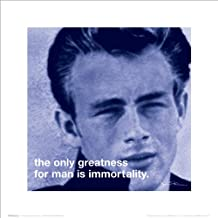 James Dean Immortality Classic Hollywood Celebrity Quote iPhilosophy Poster Print 16x16