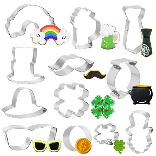 St Patrick's Day Cookie Cutters Set