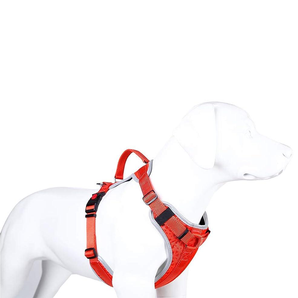 キルト突撃囲む反射犬用ハーネスペットソフト&快適なベスト、犬用のナイロン調整可能トレーニングハーネス(胸囲70-80cm)