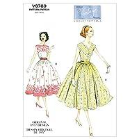 【vogue patterns】ヴィンテージ 50年代デザイン プチドレスとカーマバンドの型紙セット サイズ:US6-8-10-12-14 *8789