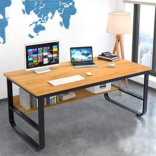 2020 New 47' Modern Simple Style Computer Desk,Home Desk, Modern Economic Office Desk with Hutch and Bookshelf, Student Study Writing Desktop