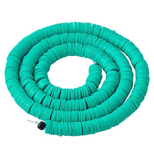 1 hebra plana redonda de arcilla polimérica cuentas de 6 mm Heishi espaciador sueltas 380 ~ 400 unids/hebra para collares, pulseras, pendientes, joyería, medio-turquesa